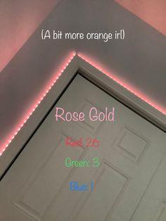 Led Room Lighting, Room Lights, Strip Lighting, Led Light Strips, Led Strip, Orange Led Lights, Diy Led, Cute Bedroom Decor, Neon Room