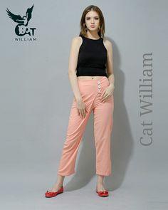 Orange Valerie pant  #_Catwilliam Www.catwilliam.com Capri Pants, Orange, How To Make, Fashion, Capri Trousers, Moda, Fashion Styles, Fashion Illustrations