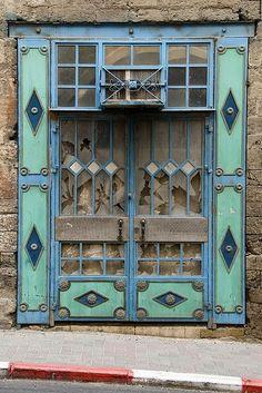 | Weathered doors in Jaffa, Israel~