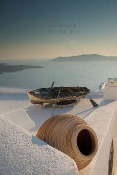 Greece - Boat on the Roof, Santorini