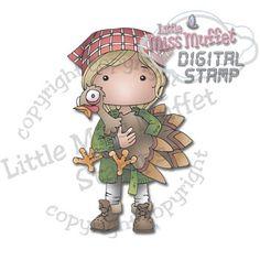 Polka Dot Pals Hazel from Little Miss Muffet Stamps.