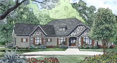 View this 1 story, 4 bedroom, alluring French home plan (#153-1996) with country influences at The Plan Collection.