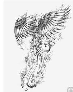 Artur mura phoenix custom tattoo designs on tattoo ideas for men phoenix meaning and designs Phoenix Bird Tattoos, Phoenix Tattoo Design, Rising Phoenix Tattoo, Phoenix Tattoo Feminine, Neue Tattoos, Body Art Tattoos, Tatoos, Wing Tattoos, Crow Tattoos