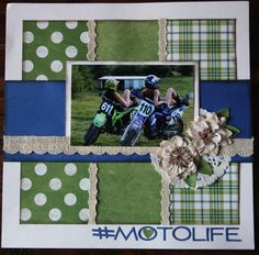 #motolife My Scrapbook, Scrapbook Layouts, Scrapbooking, Project Life, Frame, Projects, Home Decor, Picture Frame, Log Projects