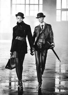 Dandy... women's wear inspired by men's wear is one of my favorite things. Great outfit on left.
