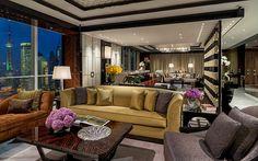 Four Seasons Hotel Shanghai     Presidential Suite Living Room