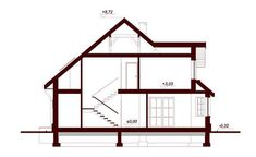 DOM.PL™ - Projekt domu DN Magnolia CE - DOM PC1-20 - gotowy koszt budowy Beautiful Small Homes, Bungalow House Plans, Micro House, Magnolia, Building A House, Photos, 1, Cottage, House Design