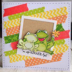 LindaCrea: Opkikkertjes #3 - Washi Tape Washi Tape Cards, Washi Tape Diy, Masking Tape, Love Cards, Diy Cards, Thank You Cards, Chrismas Cards, Decorative Tape, Marianne Design
