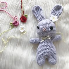 Welcome to my free Easter Bunny pattern! This pattern will show you not only how to make a cute bunny, but also a variety of flowers for his miniature flower crown. Both bunnies are made using the …