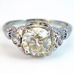 18K Antique Art Deco 180ct European Cut by laurenrosedesign, $8,600.00. Holy crap that's a lot of money! At least it's beautiful...