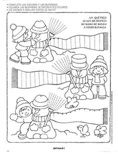 Crafts,Actvities and Worksheets for Preschool,Toddler and Kindergarten.Lots of worksheets and coloring pages. Tracing Worksheets, Kindergarten Worksheets, Worksheets For Kids, In Kindergarten, Fine Motor Activities For Kids, Preschool Activities, Pre Writing, Christmas Activities, Winter Theme
