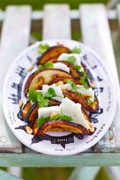 From Leila Lindholm's blog, Small auberginetacos with goatcheese and pine nuts.