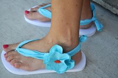 DIY Flip Flops - The Girl Creative