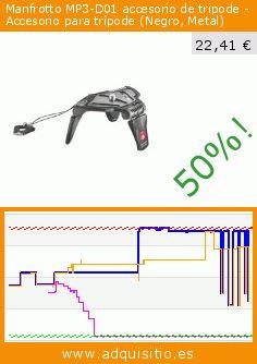 Manfrotto MP3-D01 accesorio de tripode - Accesorio para trípode (Negro, Metal) (Electrónica). Baja 50%! Precio actual 22,41 €, el precio anterior fue de 44,42 €. https://www.adquisitio.es/manfrotto/mp3-d01-metal-negro