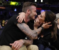 Victoria and David Beckham. Want this kind of love