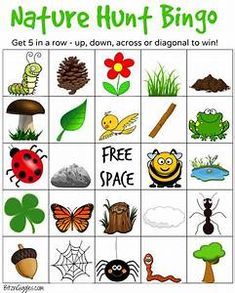 Printable Camping Bingo Cards Nature Hunt A Super Fun Outdoor Game For Kids That Encourages Exploration Of The Nature Activities, Summer Activities, Toddler Activities, Outdoor Scavenger Hunts, Nature Scavenger Hunts, Outdoor Games For Kids, Outdoor Fun, Preschool Outdoor Games, Outdoor Activities