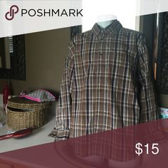 Men's plaid button up Men's brown plaid button up. C. E. Schmidt Shirts Casual Button Down Shirts