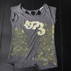 T-Shirt for teenages Flower textured T-Shirt for pretty girls Z R G Tops Blouses