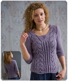 Classic Elite Yarns - 9092-1 - Lace Pullover