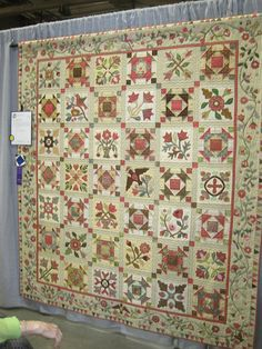 "2010 Austin Area Quilt Guild Show quilt inspired by pattern ""Heritage Sampler"" by Lori Smith, From My Heart To Your Hands"