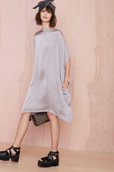 Cheap Monday Sky Dress - Gray | Shop Fall Of The Wild at Nasty Gal