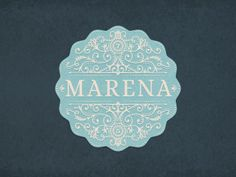 Marena - Logo (by JC Desevre). #Digital #French #Illustration #Pretty #Decorative #Retro #Vintage #Design