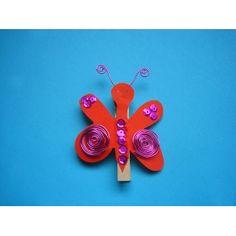 #Schmetterling mit Wäscheklammer basteln | Mit Wäscheklammern basteln | eine einfache Bastelidee und Basteltipp