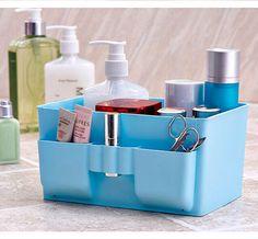 Large Capacity Desktop Fresh Pure color Cosmetic Boxes Desktop Storage Box BGG #NoBrand