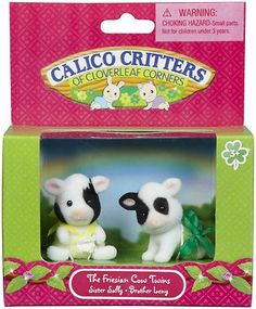 Calico Critters Friesian Cow Twins
