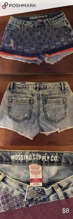 Mossimo Shorts Bought these from another posher for a trip I'm no longer going on. My loss is your gain! In excellent condition. Mossimo Supply Co. Shorts Jean Shorts
