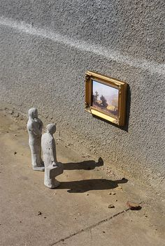 Remembrances from nature by Isaac Cordal, via Flickr