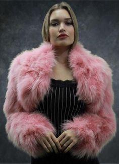 Sagafox Royal Blue Frost Fur Double Side Stole.detachable Tails Fashionable Patterns