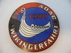 ADAC Wikingerfahrt 1980 Auto Plakette