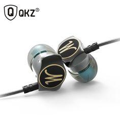 Earphone In Ear Earphones HiFi Ear Phone Metallic Earbuds Stereo in-Ear Earphone QKZ X10 Zinc Alloy Noise Cancelling Headsets DJ //Price: $11.59 & FREE Shipping //     #hashtag1