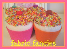 CUPCAKES WITH SPRINKLES by Fabric Fancies, via Flickr