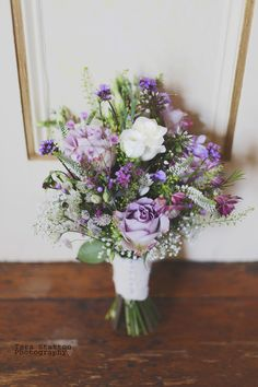 Rustic, vintage rose wedding bouquet by Grace from Peamore Flora.