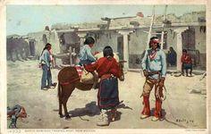 Image detail for -Santo Domingo Pueblo Fred Harvey Postcard