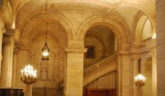 New York Public Library foyer, a really beautiful building.