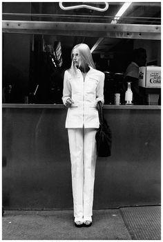 Edie Baskin, in Yves Saint Laurent for Vogue, 1972