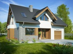 Bet you are thinking what Im think Village House Design, Village Houses, Sip House, Carriage House Plans, Facade House, Design Case, Modern House Design, Traditional House, Home Fashion