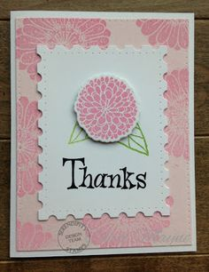 Just Me: c: Serendipity Stamps Summer Flower Pops Stamps and dies and Thanks stamp