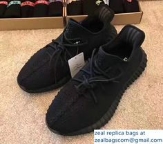 Adidas X Yeezy 350 Boost Oxford Sneakers All Black 2017