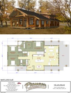 Goldrush - Pioneer Log Homes Midwest.a little reworking, and this could work! Log Home Floor Plans, Cabin House Plans, Ranch House Plans, New House Plans, Dream House Plans, Small House Plans, Cottage Floor Plans, Cabin Homes, Log Homes