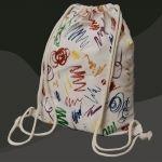 Crayon Scribbles - Drawstring Backpack