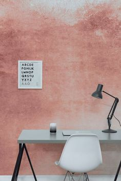 Contemporary Watercolour Interiors and How to Use Them In Your Home watercolour-office-pink