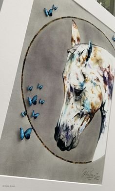 Morpho Butterfly, Blue Morpho, Original Artwork, Original Paintings, Horse Face, My Unique Style, Circle Of Life, Contemporary Artwork, Circle Shape