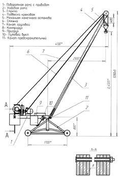 Roof top mini crane hoist. Portable construction lifting