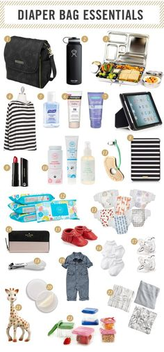 What to put in your Chevron Messenger Diaper Bag!