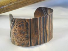 Copper Cuff - Fold Form and Textured
