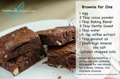 Brownie for one. {THM - S}